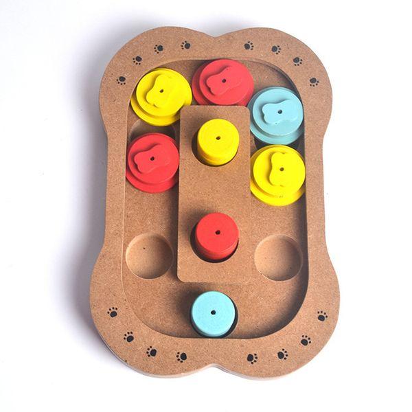 Pet giocattoli educativi per cani e gatti Tipo di stampa zampa di ossa Nuova alimentazione multifunzionale per giocare in legno