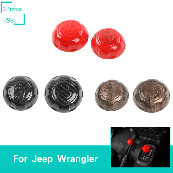 Handle Gear Shift Knob Shifter Handball Brake Cover Gear lever Decorative Cover Cap ABS for Jeep wrangler JK 2007-2017