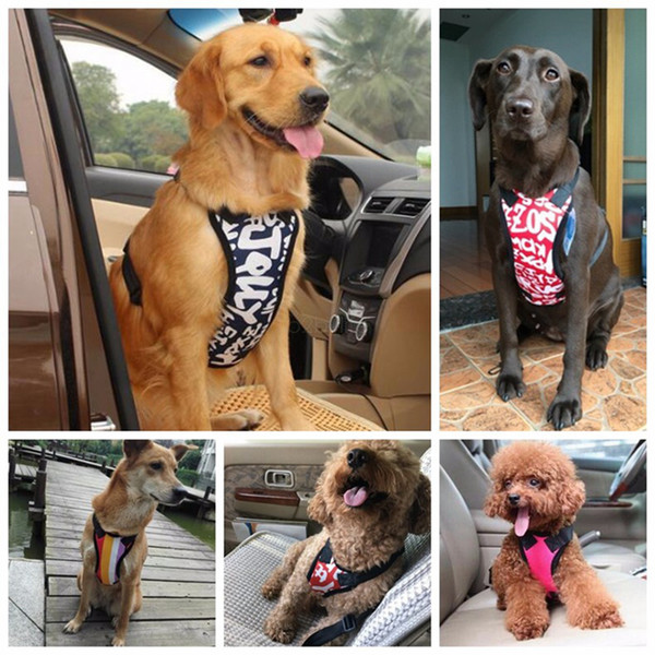 Auto Dog Car Harness Safety Belt for Small Large Dogs Car Seat Belt Chest Strap Pet Vest Chihuahua Dog Harness Leads AAA2268