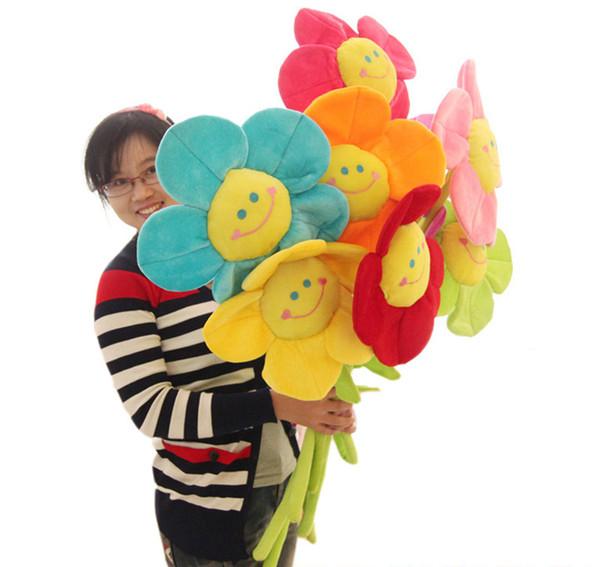 Sun flower stuffed collectible brinquedos de pelúcia travesseiro carro decoração bonito dia dos namorados presentes hot toys dolls