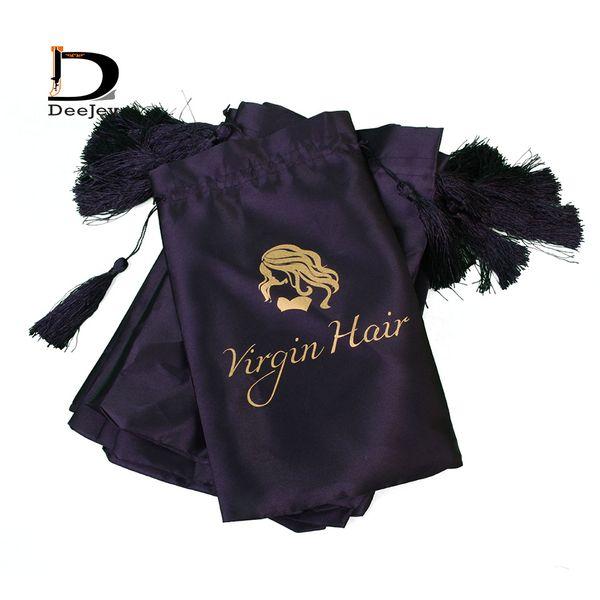 Lager Haar Verpackung Satin Seide Taschen 18x30cm weiß pink schwarz Taschen zum Verpacken von Haaren oder anderen Geschenken Handwerk 10St
