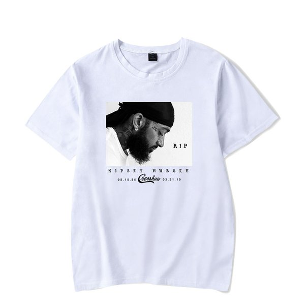 Nipsey Hussle Mens Tshirts Rapper Printed Short Sleeved Shirts Designer Tops Memory Of Clothing Mens Casual Clothes