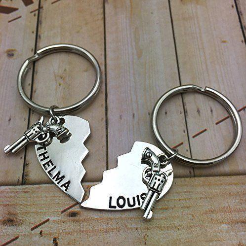 New Key Rings Key Ring, Best Friends Keychains With Gun Keychain Set,Sisters,BFF,Best Friend Gift