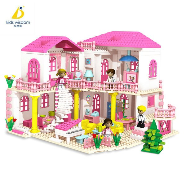 Castle Assembling Wisdom Princess Villa Castle Girl Building Blocks Educational Toys New