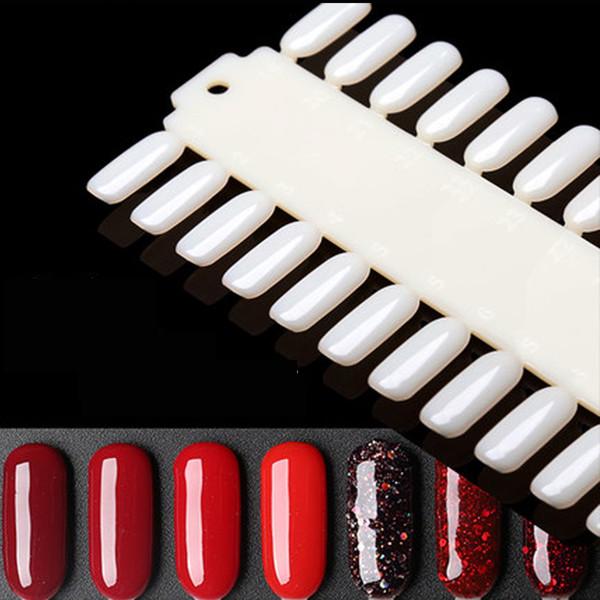 1 Pcs 36 Dicas Prego Dicas de Prática de Arte de Exibição de Plástico Natureza cor DIY Gel Unha Polonês Carta Gel Cartão de Cartão de Equipamentos
