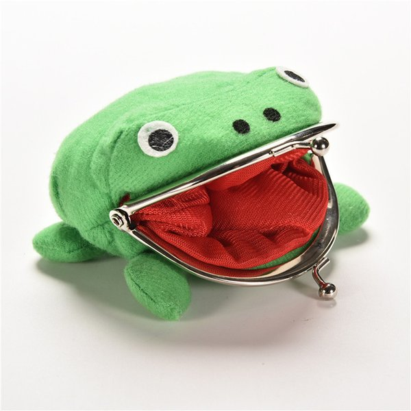 Hot Selling Frog Wallet Anime Cartoon Wallet Coin Purse Manga Flannel Wallet Cute Purse Naruto Coin Holder 1pcs