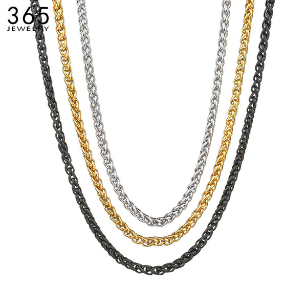 Stainless Steel Rope Chain Necklace 5mm