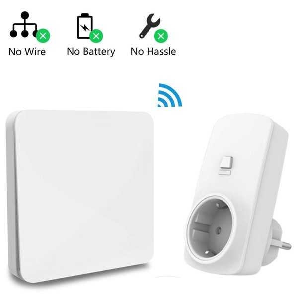 Battery Powered Outlet >> Wireless Socket Remote Control Outlet Plug 16a Self Powered Kinetic Wireless Light Switch Household Appliances Devices Btw Nr Controleren Controlers