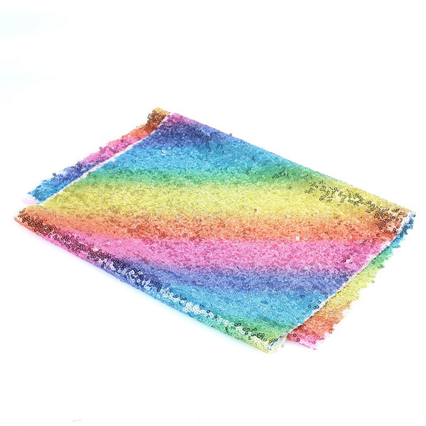 Wedding Decoration Rainbow Sequins Tablecloth Glittering Table Cover Home Table Runner Polyester Clothes Home Textile