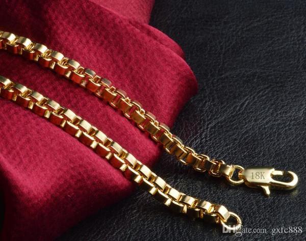 Ustore8 kolye Kore versiyonu erkek moda 18 k altın kutu kutusu zincir moda vahşi patlama kolye