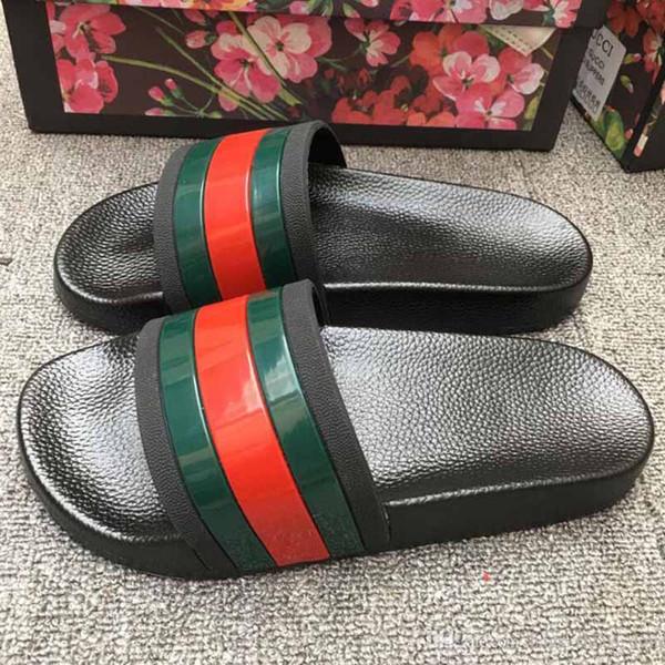 Pantofole piatte di lusso da uomo Pantofole da spiaggia estive Ace Bee Tiger Sandali in pelle da uomo Fashion Designer Pantofola piatta