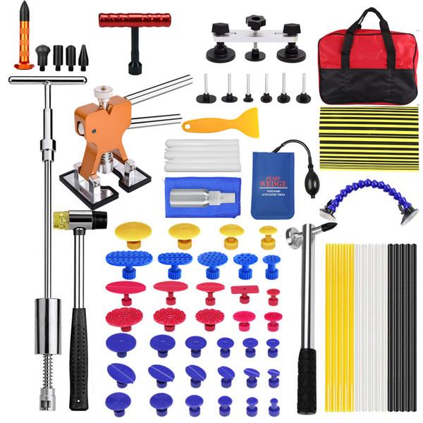 Reparação PDR Car Dent Puller Set Removal Tool Kit Dent Puller slides martelo de borracha ferramenta saco de cola Tabs para qualquer reparo do carro