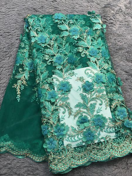 Laços africanos Tecido Bordado Guipure Nigeriano Tecido de Renda Francesa de Alta Qualidade Rosa Flor Tecido de Renda Líquida Francês