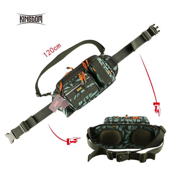 Kingdom Fishing Bag Multifunctional Large-size Waist Shoulder Fishing Lure Reel Tackle Bag Model LYB-12 #109334
