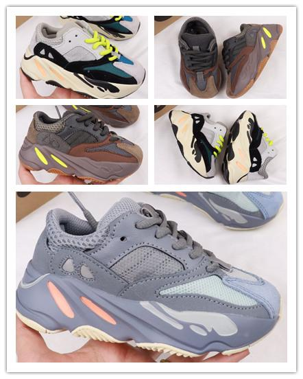 (box) 2019 Kids Running Shoes Kanye West Wave Runner 700 Youth Shoes Trainers Sply 700 Sports Sneakers Casual Toddler Shoe Size :28-35