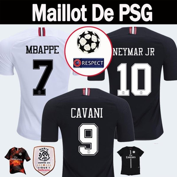 937a84ff1f8 2018 2019 PSG Third Maillot MBAPPE Soccer Jerseys 4th CAVANI Thailand 18 19  Paris Football Shirt