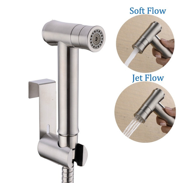 Rociador para inodoro Conjunto de ducha Bidé de 2 modos Toliet HandHeld Bidet Spray Shattaf portátil Bidet Faucet 304 acero inoxidable