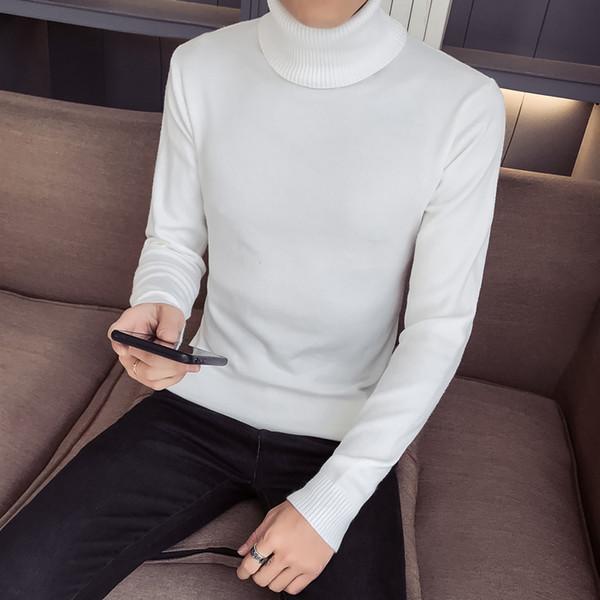 Pull à col montant de qualité 5 couleurs en version coréenne du pull en maille cravate à 100 nœuds en hiver -1002