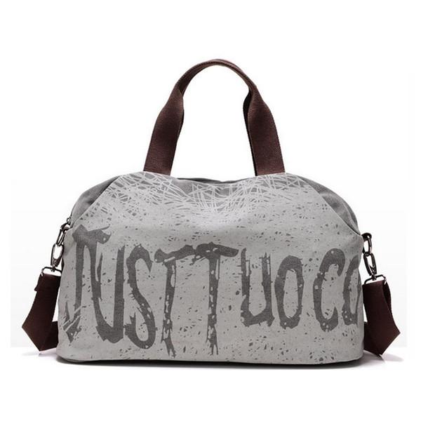 Winmax New Canvas Letter Printing Handbags Tote Gym Bag Shoulder Bags Women Outdoor Sports Gym Fitness Bag Travel Duffel Bolsa