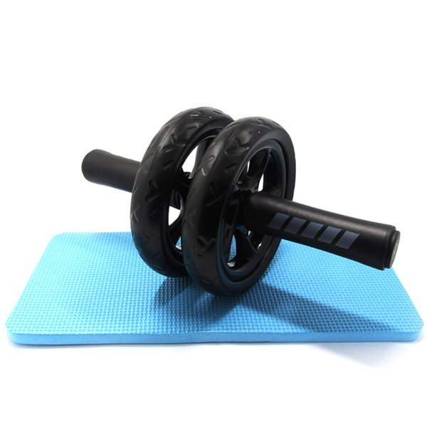 top popular No Noise Abdominal Wheel Ab Wheels Roda Rollers With Mat For Exercise Fitness Equipment Muscle Trainer. 2021