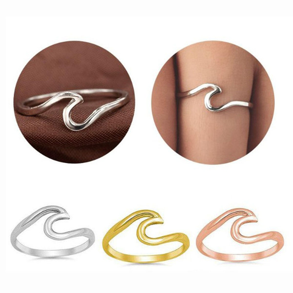 Оптовая мода океан волна кольцо корейский стиль простой группа обручальное кольцо дешевые цены горячие продажи новые ювелирные изделия для женщин свадебный подарок
