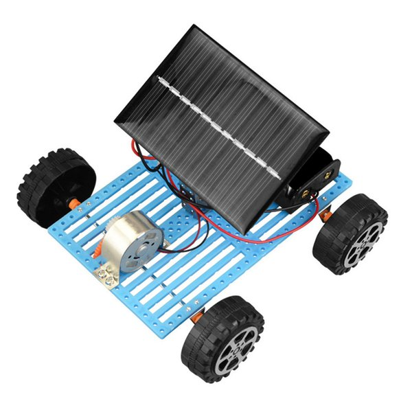 Toys For Children Mini Solar Powered Diy Car Toy 1pc Child Plastic Funny Educational Gadget Hobby Gift Solar Powered Toys