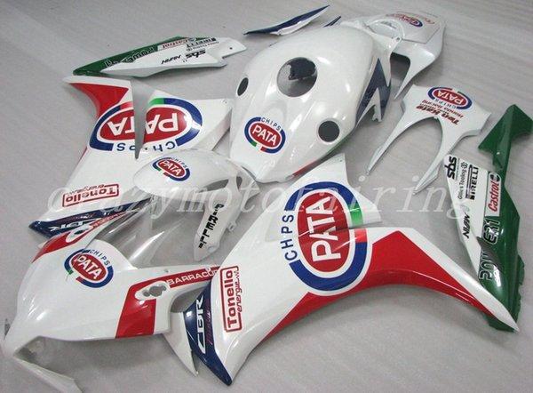 Nuevos kits de carenados de motocicletas de moldes de inyección ABS 100% aptos para Honda CBR1000RR 12 13 14 15 2012-2015 carenados conjunto de carrocería personalizado blanco verde