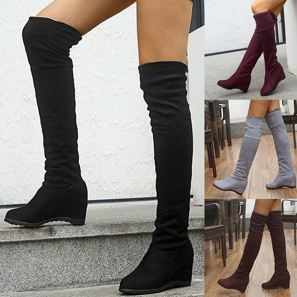 "7/"" not 6 inch Heel Thigh High Fetish Boot 6 Woman 36 euro STRETCHY FITS MOST"