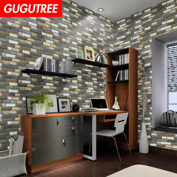 Decorate home 3D black brick cartoon art wall sticker decoration Decals mural painting Removable Decor Wallpaper G-2586