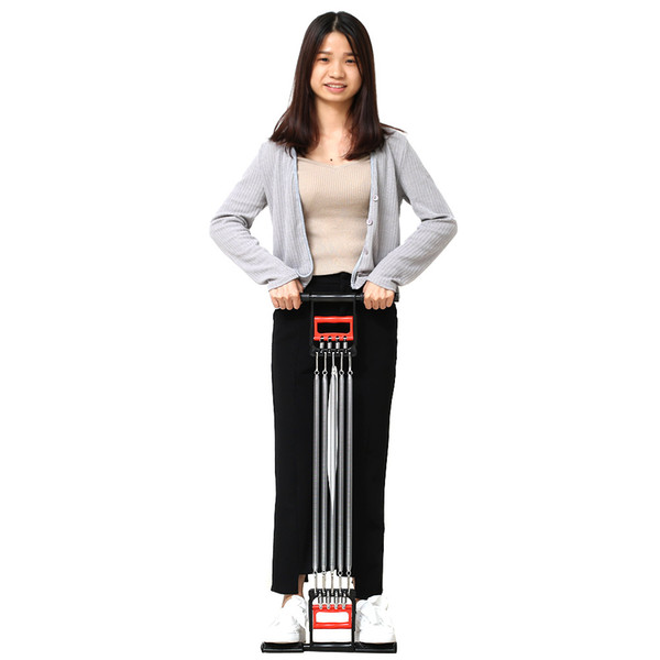 3 In 1 Chest Developer Spring Expander+Hand Grip+Pedal 5 Spring Multi-functional Detachable Muscle Exercise Equipment ZJ55