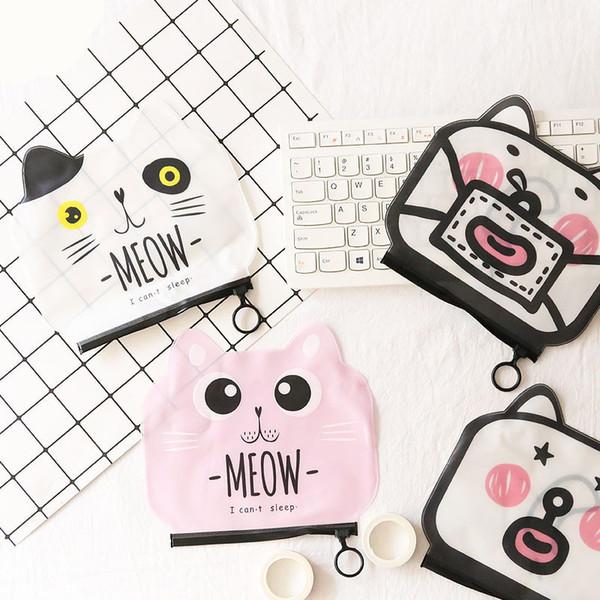 Fashion Cat Transparent Cosmetic Bag Case Women Travel Make Up Organizer Storage Pouch Toiletry Beauty Wash Kit Makeup Box