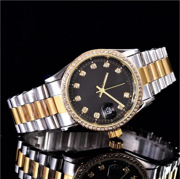 top automático de diamante da coroa de relógios famosos função de quartzo relógio de ouro mulheres de esportes de marca de qualidade 3A posicionamento preciso relógio de quartzo