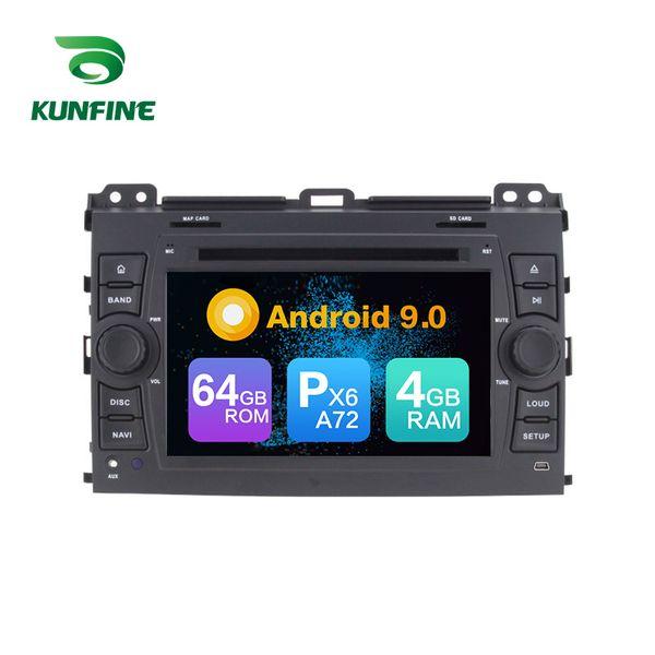 Android 9.0 Core PX6 A72 Ram 4G Rom 64G Автомобильный DVD GPS Мультимедийный плеер Автомобильный стереосистема для Toyota PRADO Cruiser 120 Магнитола