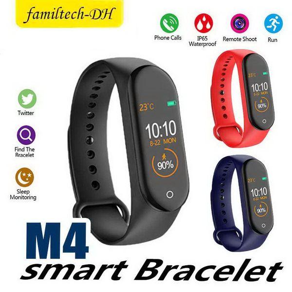 M4 Смарт-группа 4 Браслеты Сердечного ритма Артериального Давления Спорт Smartwatch Монитор Здоровье Фитнес-Трекер умные Часы Браслет PK M3