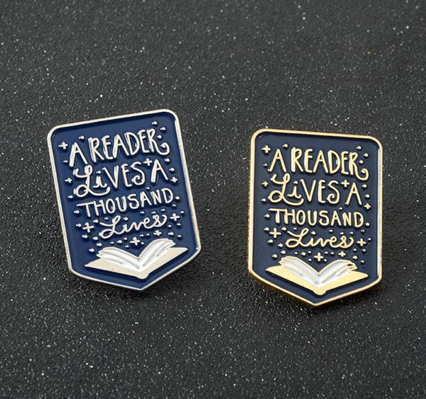 Buchnadeln Reader Broschen Emaille Pins Abzeichen Lesen Zitat Schmuck Geschenke für Studenten Lehrer Buchliebhaber