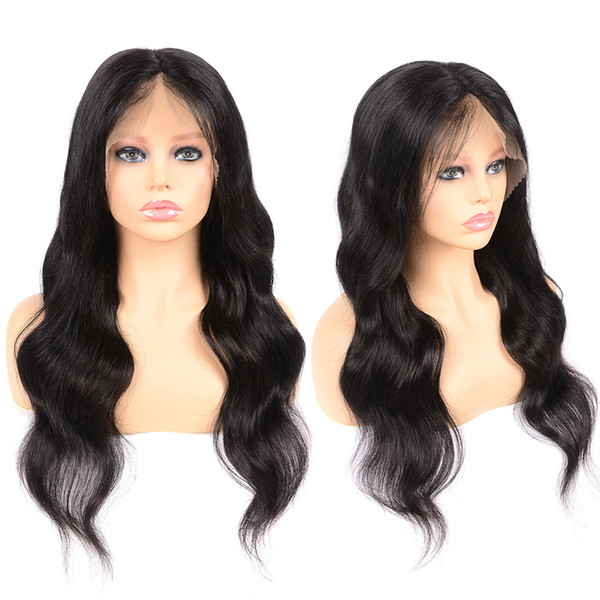 Body Wave 13*4 Lace Front Wigs Middle Part Human Hair Wigs Pre Plucked Hairline With Baby Hair wowwigs Factory