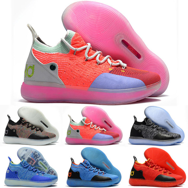20ee1985156ad Kids KD 11 Multi Color shoes for sale Top Quality Kevin Durant Basketball  shoes wholesale store Size US4-US12