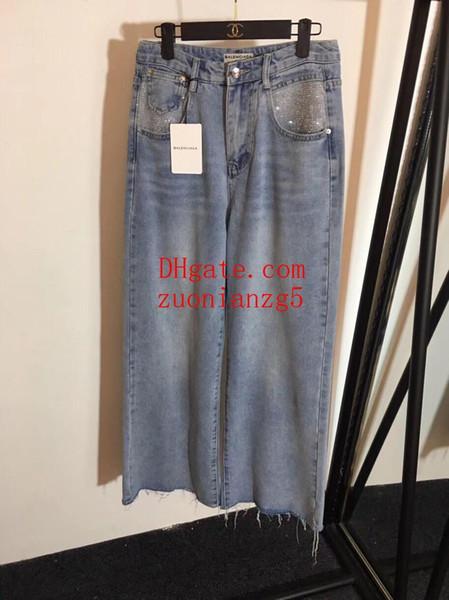 women jeans Hot Style Summer New Fashion denim Pants Leggings high waisted jeans Leisure Bottom Jeans women wide leg pants women clothes