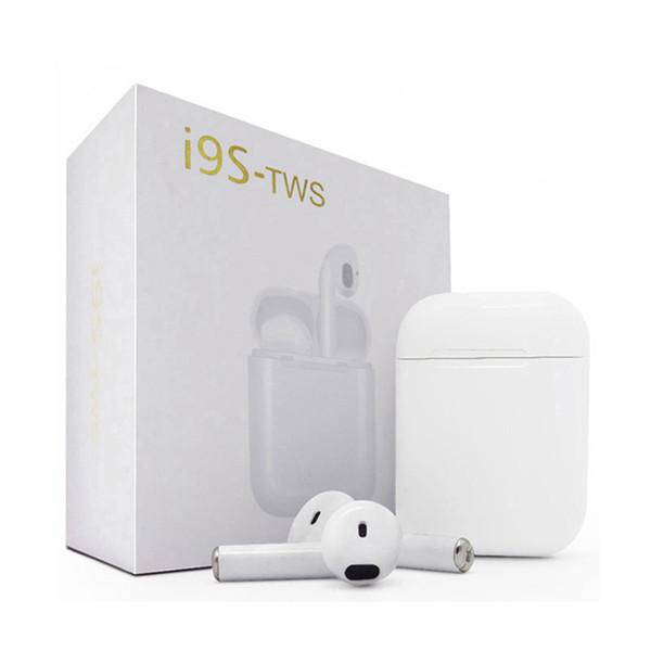 I9S-TWS I9 I9S Twins Kablosuz Bluetooth Kulaklık Stereo Kulaklık kulaklık Stereo Perakende Kutusu ile Iphone Android için V4.2 Kulaklık 001