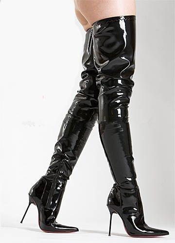 12/14cm/16Cm Super Thin Pointed Toe Metal Heels Crotch Thigh High Women Boots Sexy Night Club Shoes Black Custom Leg Boot Large Boots