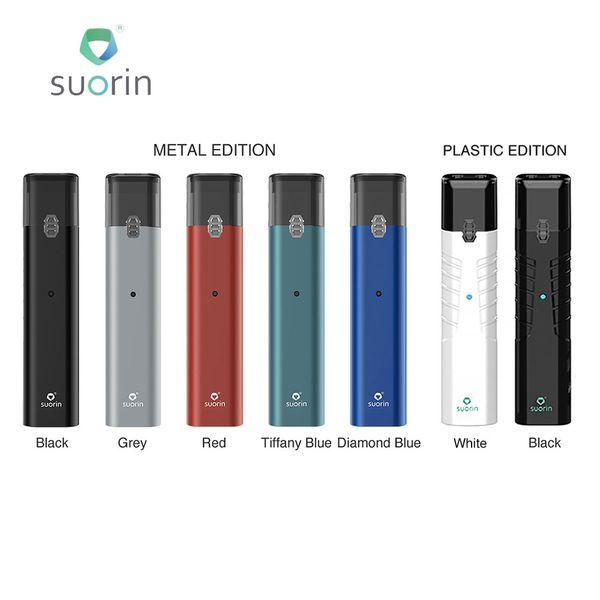 Nuevo Suorin IShare Single Starter Kit 130mAh con 0.9ml Cartucho de cigarrillo electrónico Starter Kit Versión de metal