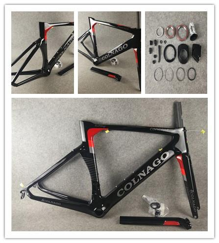 Colnago CONCEPT Road bike Frame full carbon fiber bicycle frame Red with BB386 Frame+ Seatpost+ Fork+ Clamp+ Headset