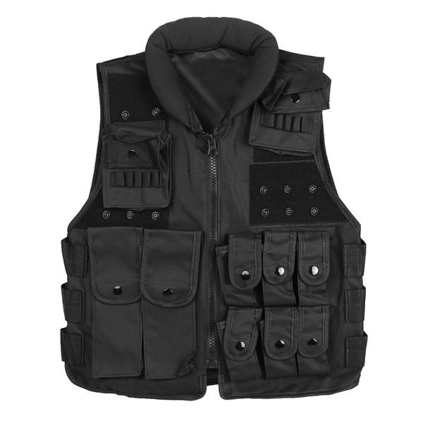 Colete tático Homens Caça Colete Ao Ar Livre Caça Waistcaot Treinamento CS Colete swat Protetora Modular Segurança Colete