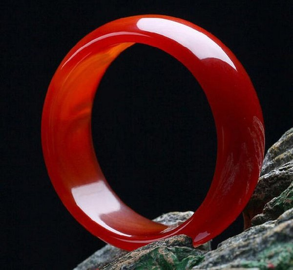 Natural Red Agate Bangle Red Chalcedony Bracelet Jade Bangles Widen Bracelet Bohemian Jade Jewelry For Mom GIft
