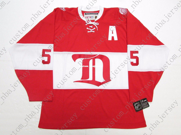 Cheap custom NIKLAS KRONWALL DETROIT RED WINGS ALUMNI VINTAGE CCM HOCKEY JERSEY stitch add any number any name Mens Hockey Jersey XS-5XL