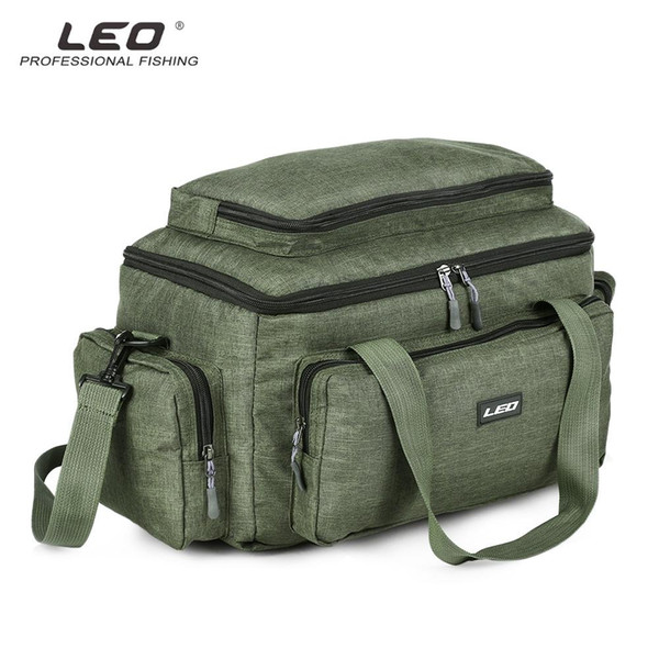LEO 3-in-1 Multifunctional Lure Pack Fishing Tackle Bag Nylon Waterproof Large Fishing Gear Storage Bag for Outdoor Activities VB