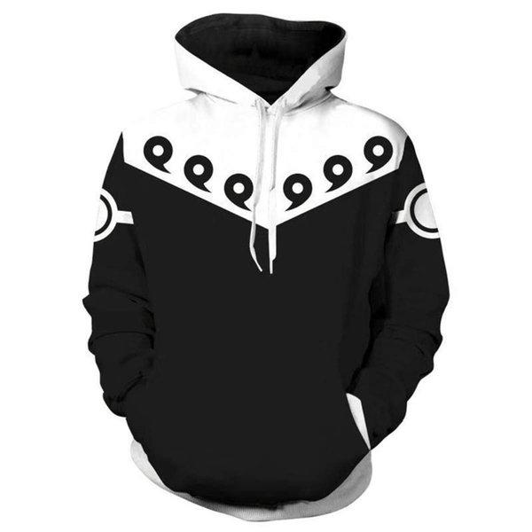N 3D Hoodies For Men Cosplay Naruto Hoodies Cool White Coat Hooded Sweatshirts Men Women Polluver Streetwear Tops Plus Size