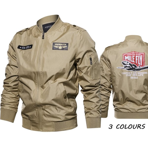 Erkek giyim ince ceket ABD askeri üniforma kısa bej yaka çok cep gömlek fermuar ceket büyük boy XXXXXXL