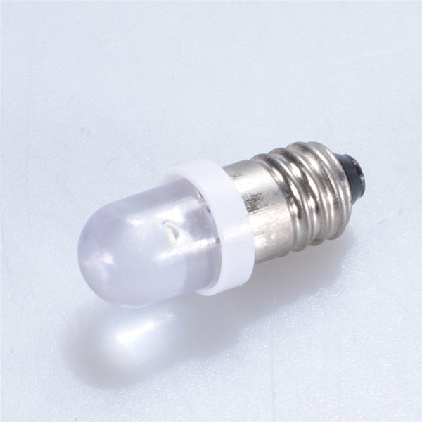 E10 LED Light Bulbs DC 12V LED Screw Base Indicator Bulb Mini Warning Signal Lamp Instrument Light