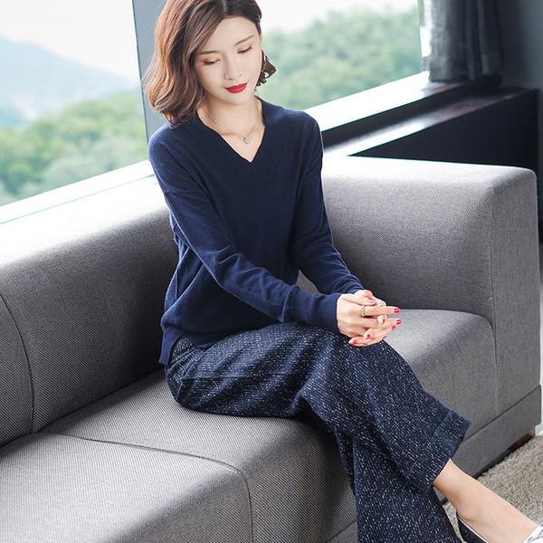 2019 Pure cinza shirt camisola Color Fashion pulôver assentamento de Mulheres